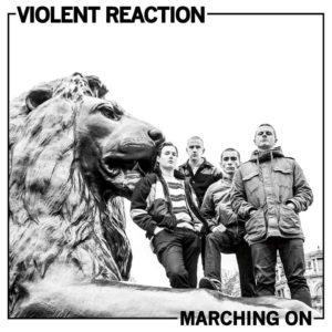 violent reaction marching on