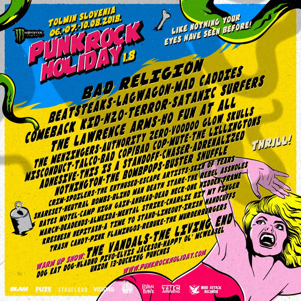 punk rock holiday 1.8 lineup